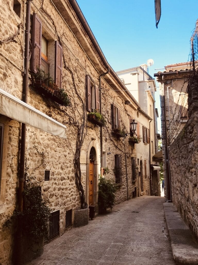 Medieval streets of San Marino