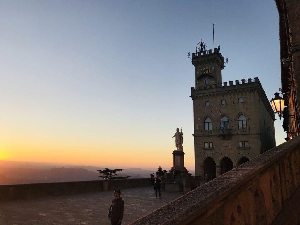 San Marino at sunset