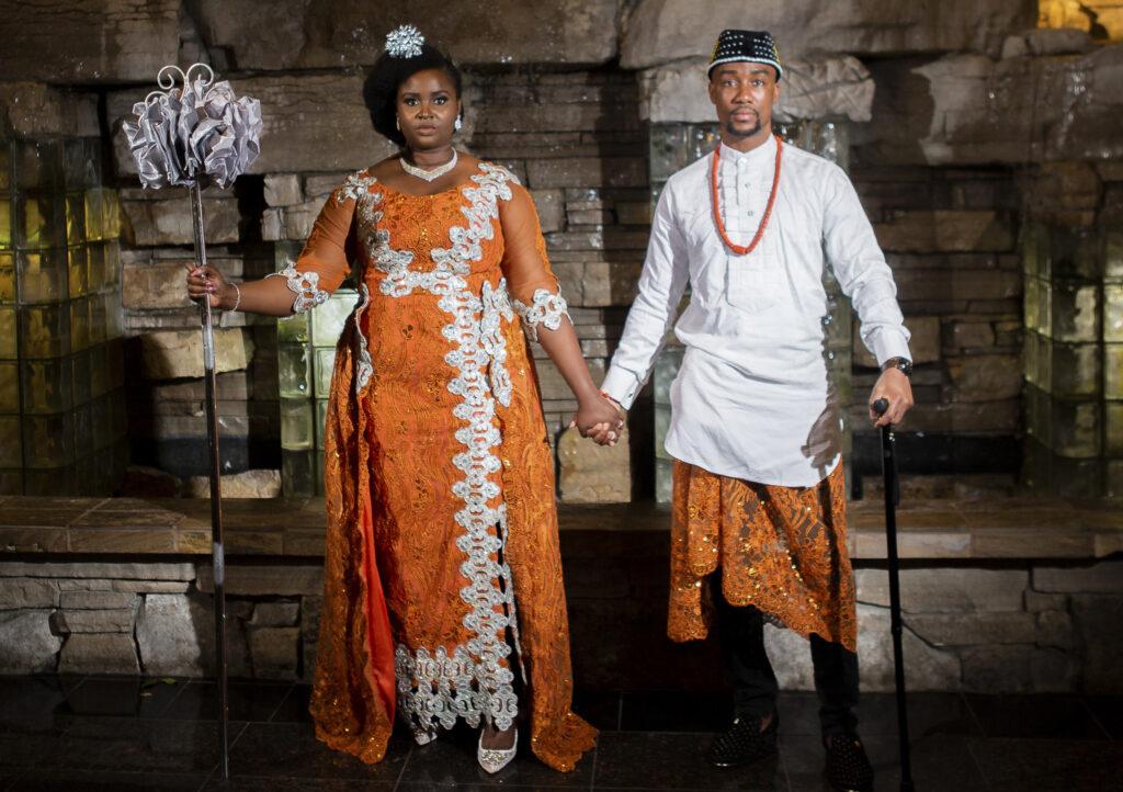 Nigerian wedding couple in Toronto