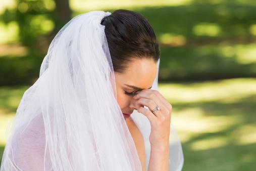 wedding cancellation worried bride