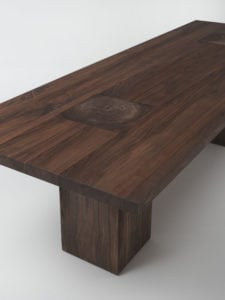 Riva 2910 boss basic quartersawn walnut table