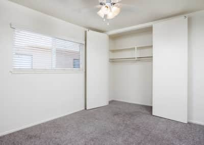 Large closet in an apartment bedroom