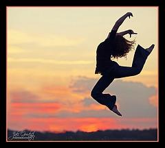 dancer silhouette sunset