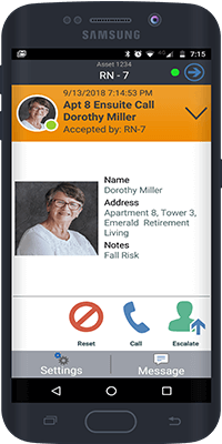 Wireless Nurse Call Solution Mobile App