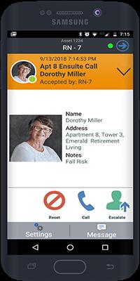 Wireless Nurse Call Solution Mobile App