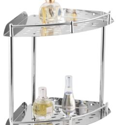 Indian Collection Stainless Steel Heavy Corner Shelf (225mm)