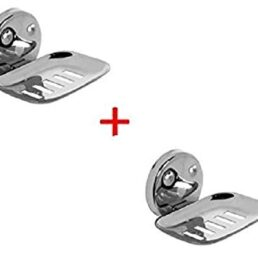 A-ONE Stainless Steel Soap Dish | Soap Stand Case | Soap Holder Dish for Bathroom (Set of 2)