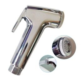 Indian Collection ABS Health Faucet Shower Toilet Jet Spray (Silver, Standard Size) – Set of 2Pcs