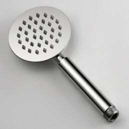 Hand Shower Round Head for Bath Stainless Steel