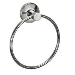 Deluxe Ring Napkin & Towel Ring Stainless Steel 202 (Silver,Chrome Finish) (Ring Diameter 6 inch)