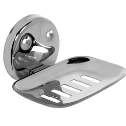 A-ONE Bathroom Stainless Steel Soap Holder (Silver, Large)