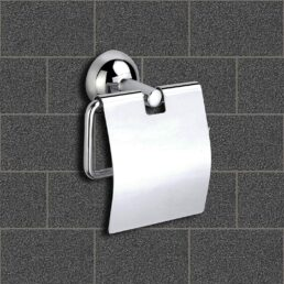 INDOROX Stainless Steel Toilet Paper Holder  (Lid Included)