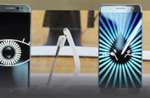 Samsung Electronics Galaxy Note 7 smartphones are displayed at a shop in Seoul, Tuesday. AP-Yonhap