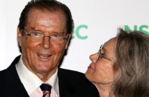 Sir Roger Moore dies at the age of 89. Image: pictured with his wife Kristina 'Kiki' Tholstrup