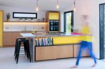 Colorful kitchen. Papilio's Scandinavian kitchen. Image Credit: Simon Plant, 2018.