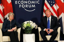 """President Donald Trump on his meeting with Mrs May: """"We're on the same wavelength"""""""