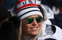Lindsey Vonn wins bronze medal in downhill at the 2018 Winter Olympics in Korea.