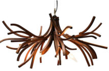 True Nordic 1 - Lars Dressler and Jason Dressler, Brothers Dressler, Branches Chandelier, 2009, white oak, Courtesy of Brothers Dressler.