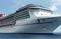 Built in 2004, Carnival Miracle is the fourth in Carnival Cruise Line's four-member Spirit Class platform, which also includes the Carnival Spirit and Carnival Pride (both 2001) and Carnival Legend (2002). Image Credit:Peter Knego