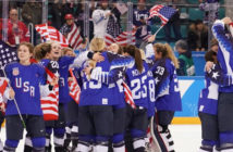 "USA beats Canada, 3-2, in a shootout to win the gold medal. ""This is a very classic example of how hard it should be,"" said Robb Stauber, the American coach. Image Credit: Chang W. Lee/The New York Times."
