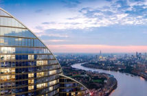 Residential towers of 771 ft up and with only one set of stairs for fire escape from top floors. Modern blocks such as Spire London will have technology such as sprinklers and smoke extraction systems. Image Credit: Pirelondon.com, 2018.