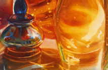 Paul Jackson 's: The Illusion of glass in watercolor paintings. Image Credit: Artists Network Magazine, 2018.