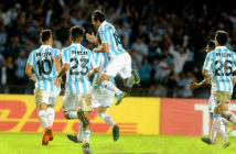 Racing enjoyed Donatti's goal in the second half. Image Credit: Guillermo Rodríguez Adami, 2018.