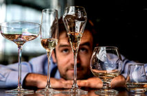 Champagne bubble test - The coupe, second from left, is said to be modelled on Madame de Pompadour 's bust. It kept fizzing for only 17 minutes compared with 1 hour 29 minutes for flutes - Image Credits: Richard Pohle - The Times 2018.