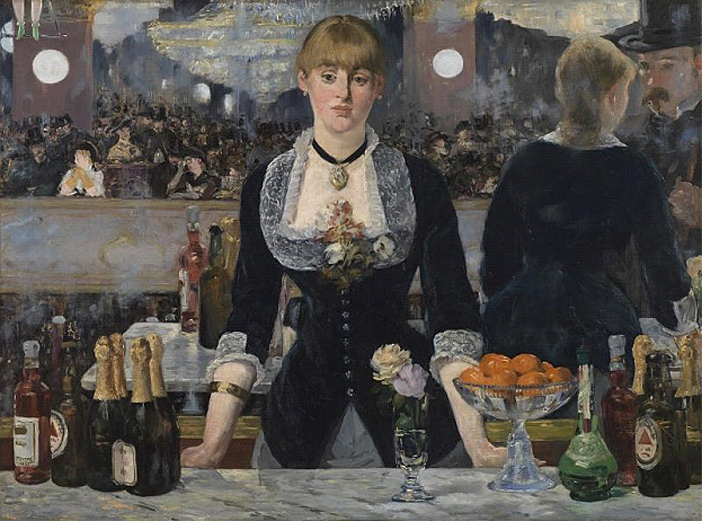 From Manet to Cézanne review. - Edouard Manet, 'A Bar at the Folies-Bergère', 1882© The Samuel Courtauld Trust, The Courtauld Gallery, London.