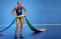 Gwen Jorgensen won gold in the triathlon at the Rio Olympics just six years after learning how to ride a racing bicycle. Credit: Chang W. Lee / The New York Times.