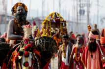 Kumbh Mela is a mass pilgrimage of people from the Hindu community where they gather in large groups and bathe in the sacred river./ SANJAY KANOJIA / AFP