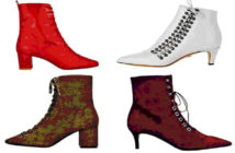 Lovely Rita, the latest fashion star, is everywhere. She's a boot.. Clockwise from top left: £393.90, byfar.com; £199, kurtgeiger.com; £225, whistles.com; £150, uterque.com. Image Credit: Getty Images, 2019.
