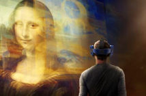 Virtual reality lets you get up with the Mona Lisa. It experience will make the painting available not only to Louvre visitors but also to a global audience. Image Credit: The Times, London, UK, 2019.