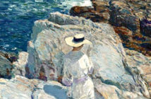 The South Ledges, Appledore Island. oil on Canvas - Childe Hassam spent many summers on Appledore Island off the coast of Maine. Exhibition Label, Smithsonian American Art Museum, 2006.