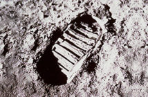 Apollo 11 - : The first footprints on the Moon will be there for a million years. There is no wind to blow them away.. Image Credit NASA, USA, 1061.