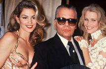 Up close with Karl Lagerfeld. Cindy Crawford, Karl Lagerfeld and Claudia Schiffer, during a Chanel fashion show in Paris in 1993. Rindoff Petroff / Castel / Getty Images, 2019.
