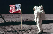 Conspiracy theories debunked.. Was the moon landing faked? These are not questions to ask Buzz Aldrin.. Image Credit: Archive NASA, 2019.