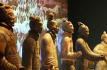 facial recognition used on Terracotta Warriors crowds.. Image Credit: World Museum, Liverpool, UK, 2019.
