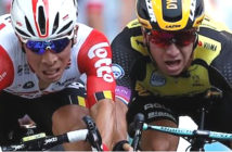 Caleb Ewan wins his first Tour de France stage after edging out Dylan Groenewegen in Toulouse. Image Credit: Reuters, 2019.