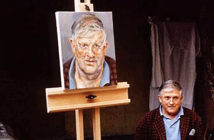 London's most exhibited artist this millennium. David Dawson's photograph of the artists David Hockney and Lucian Freud. The pair have been among the most popular in London this millennium. Image Credit: © David Dawson, 2019.