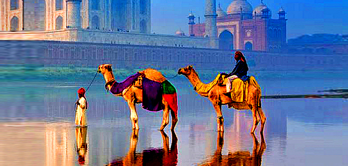 The Golden Triangle at northern India.