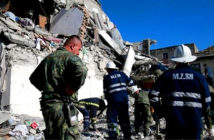 Another earthquake slams Albania. Rescuers searched a damaged building for survivors in Thumane, Albania, on Tuesday. Image Credit: Visar Kryeziu / AP Associated Press, 2019.