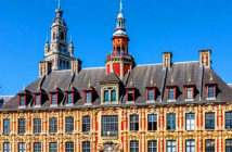 A surprising weekend in Lille, France — a mix of old and new.. La Vielle Bourse de Lille, formerly the stock exchange. Image Credit: Alamy for Yhe Times, London, UK, 2019.