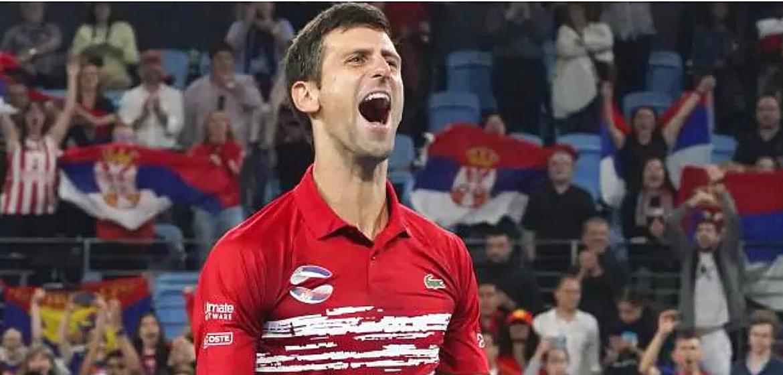 Novak Djokovic is the hero in ATP Cup.