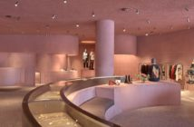 David Adjaye designs in Los Angeles.. The Webster's new L.A. outpost, designed by David Adjaye, features a rosy pink hue inside and out. Image Credit: Dror Baldinger, 2020.