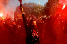 Human Rights are under attack. Women hold flares during a march for International Women's Day in Madrid, Spain, March 8, 2019 Image Credit: Bernat Armangue AP Associated Press 2020.