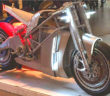 Style, Craft and Commerce at One Motorcycle Show.. This Tron-worthy Zero-based electric concept bike (called the Zero XP) got a lot of attention at the Show. Image Credit: Bill Robertson, 2020.