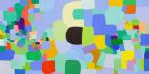 "Federico Herrero's Paintings .""Visita,"", 2019. Courtesy of James Cohan Gallery, New York. Image Credit: Phoebe D'Heurle, 2020."