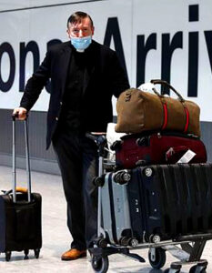 Airlines seek quarantine injunction as holiday bookings soar.. Passengers arriving in the UK from today are required to provide an address where they will self-isolate for two weeks Image Credit: Adrian Dennis / AFP Associated France