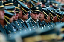 Another Intelligence Scandal in Colombia Army officials attend a military ceremony in Bogota, Colombia, Nov. 16, 2019. Image Credit: Fernando Vergara). / AP, 2020.